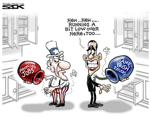 Obama Economic Stimulus Promising Jobs