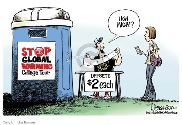 global warming cartoon analysis