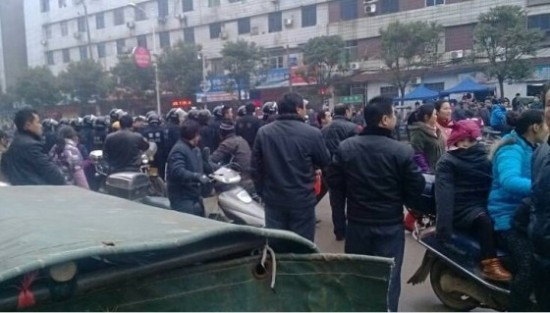 China Jiangxi Foxxconn Workers Protest