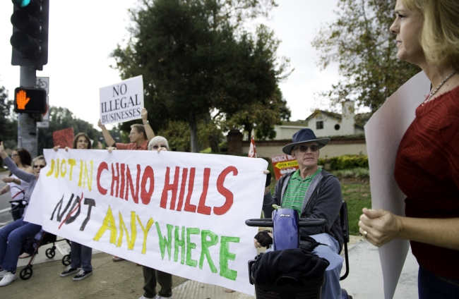Chino Hills Residents Protest