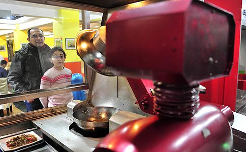Robot Cooks in China Harbin