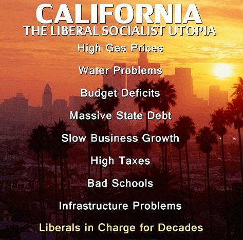 California Liberal Socialist Utopia --Political Follies