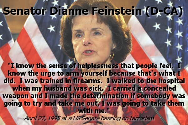 Dianne Finestein On Concealed Weapons 1995