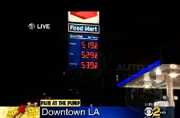 Gas Prices Over $5 a Gallon in California Again --CBS