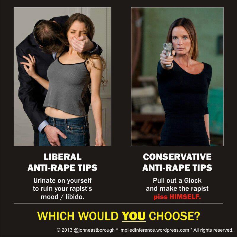 Liberal -v- Conservative Anti- Rape Tips --Canadian Conservatives--Lana Wong