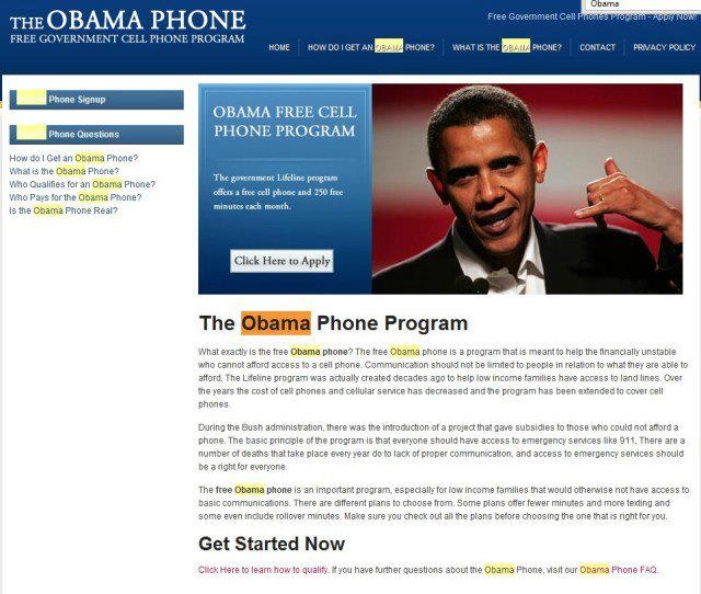 Obama Phone Program --Scarlett Sage