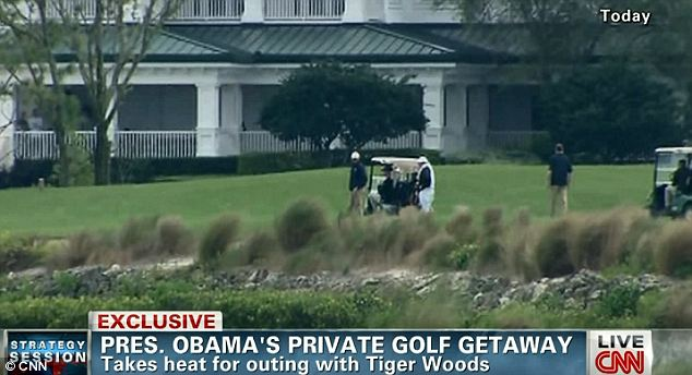 Obama Private Golf Outing With Tiger Woods