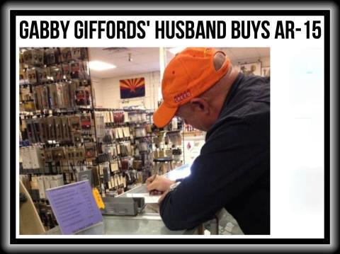 Gabby Giffords Husband Buys AR-15 --Political Follies