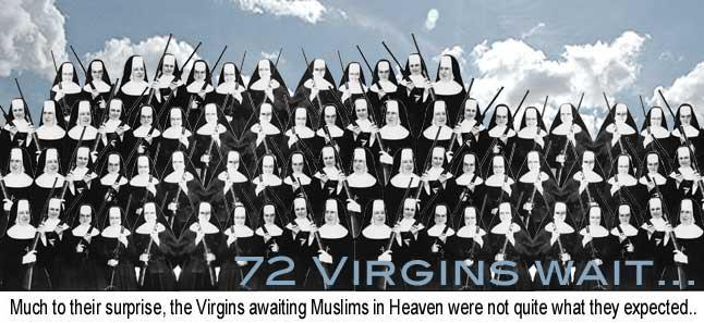 72 Virgins --Conservative Political Cartoons Daily