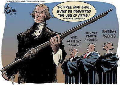 No Free nan shall ever be disbarred the use of arms --Thomas Jefferson