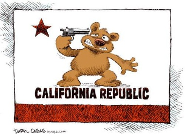 State of California Suicide --Cagle Cartoons
