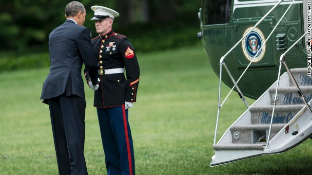 Obama Getting Touchy Feely With Marine