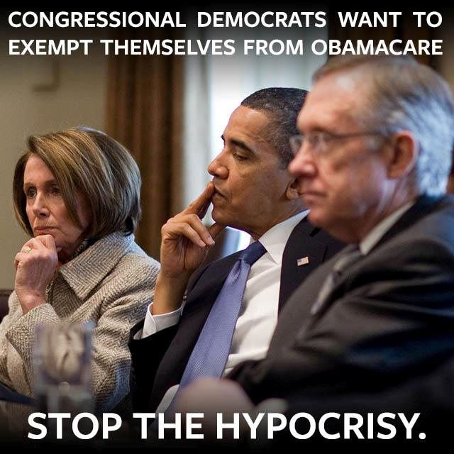Congressional Dems Want To Exempt Themselves From ObamaCare