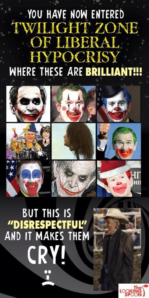 Rodeo Clowns Wore Bush Faces
