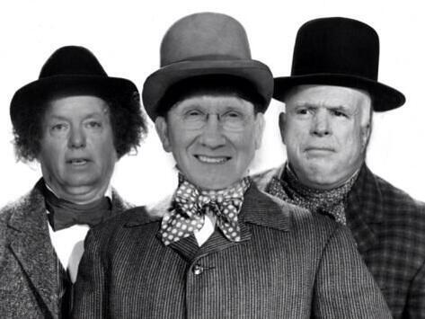 RINO Lindsey Graham and John McCain Stand With Harry Reid