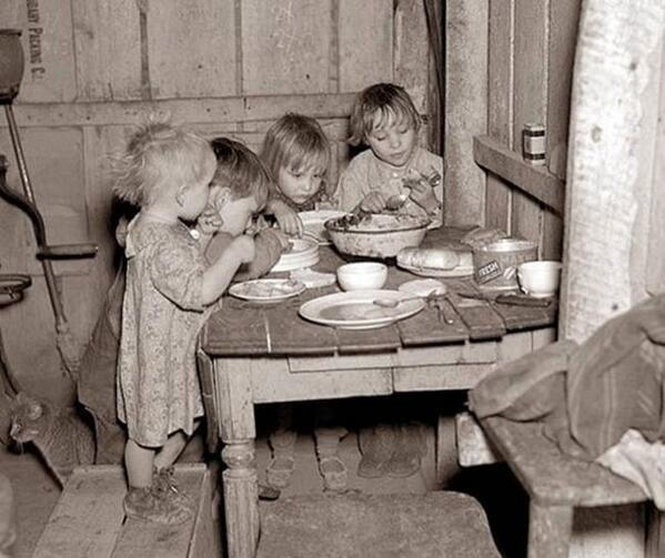 Christmas Dinner--Great Depression
