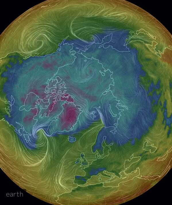 Greenland Ice Coldest Area