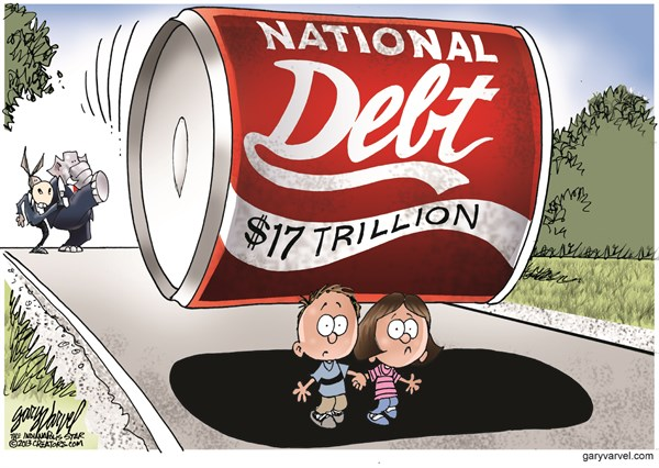 Natl Debt --Cagle Cartoons