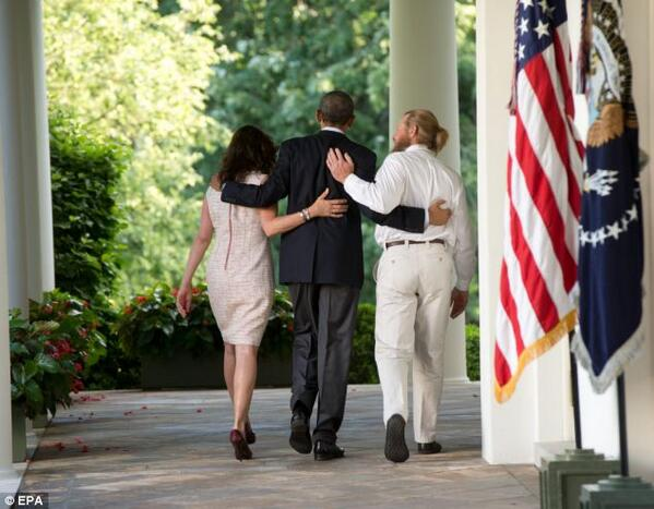 Bergdahl Parents and Obama