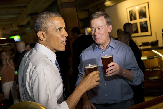 Obama Beer woth Colorado Gov