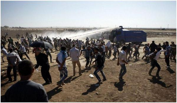 Turkey Attacking Kurdish Refugees