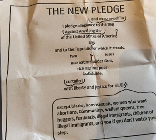 Anti-American Pledge