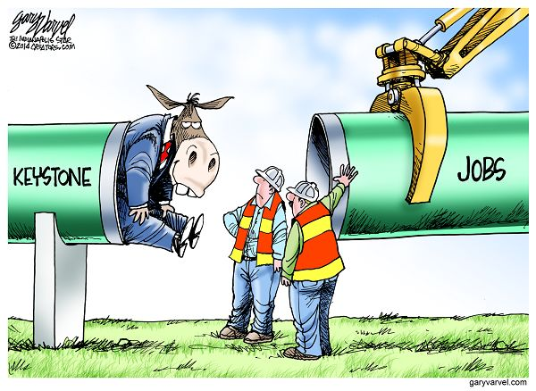 Cartoonist Gary Varvel: Blocking Keystone XL Jobs