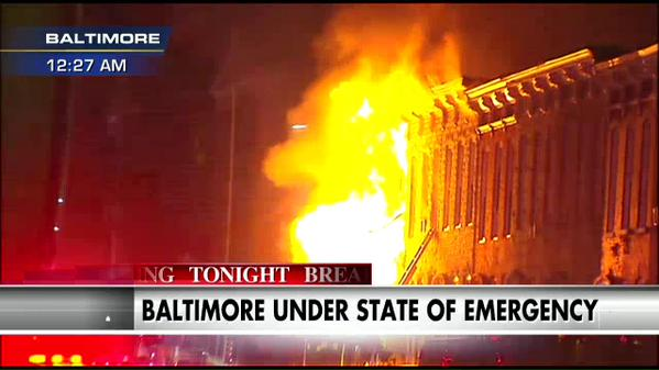 Baltimore Apartments Set On Fire