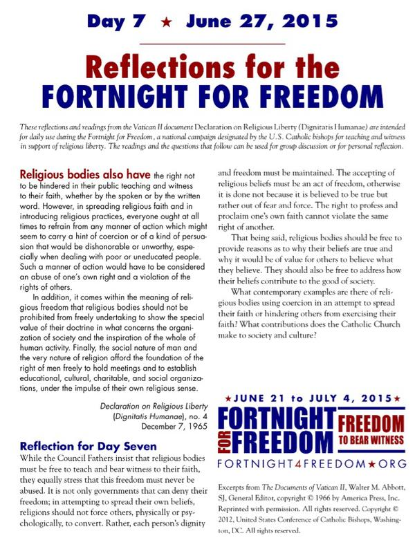 Fortnight For Freedom Day 7