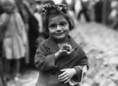 Little Girl With Her Pet Toad