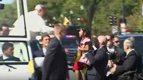 Pope Francis Meets LA Girl