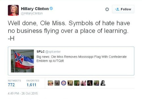 Hillary Clinton Confederate Flag