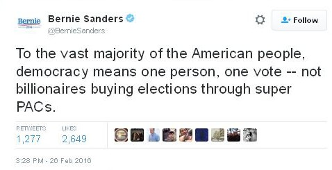 Bernie Sanders Illegal Campaign Contributions