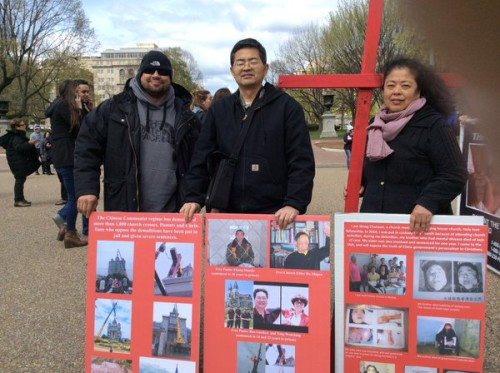 China Persecuted Christians Outside White House