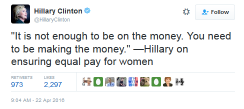 Hillary Equal Pay