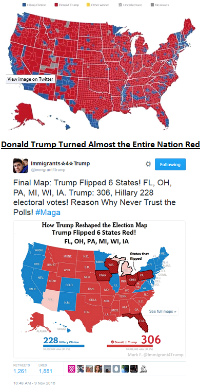 Trump Won States Map.Final 2016 Electoral College Map How Donald Trump Won In A Virtual