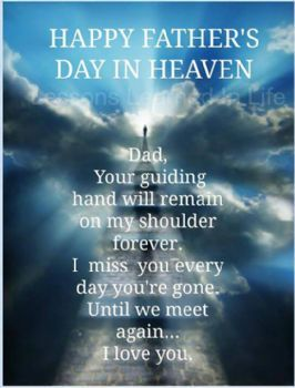 a letter to my dad in heaven 187 happy s day amp to all the special s 28771 | Happy Father Day...